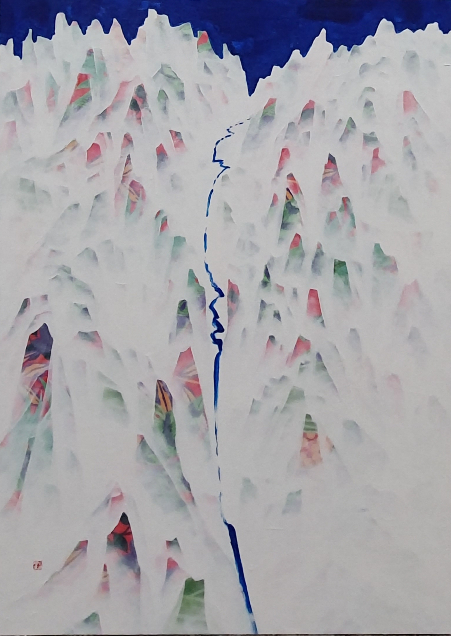 김성호3, 금수강산, 48 x 65 cm, Various material
