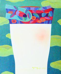 014, 차명주, 하얀 꽃병, 65.1 x 53.0 cm, oil on canvas, 2021, 375만원