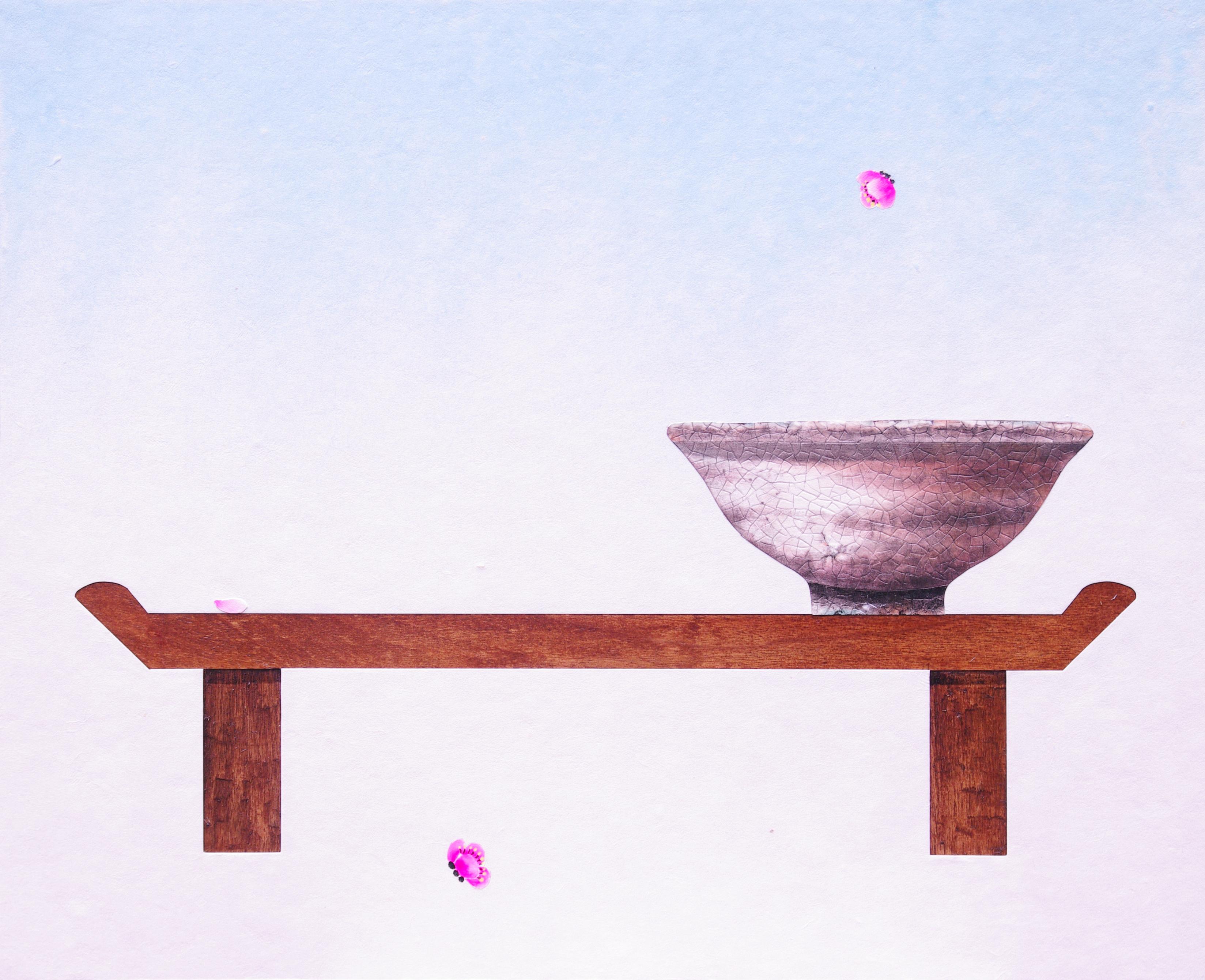 009, 비움과 채움(복을담다), 65 x 53 cm, 한지에 혼합재료,