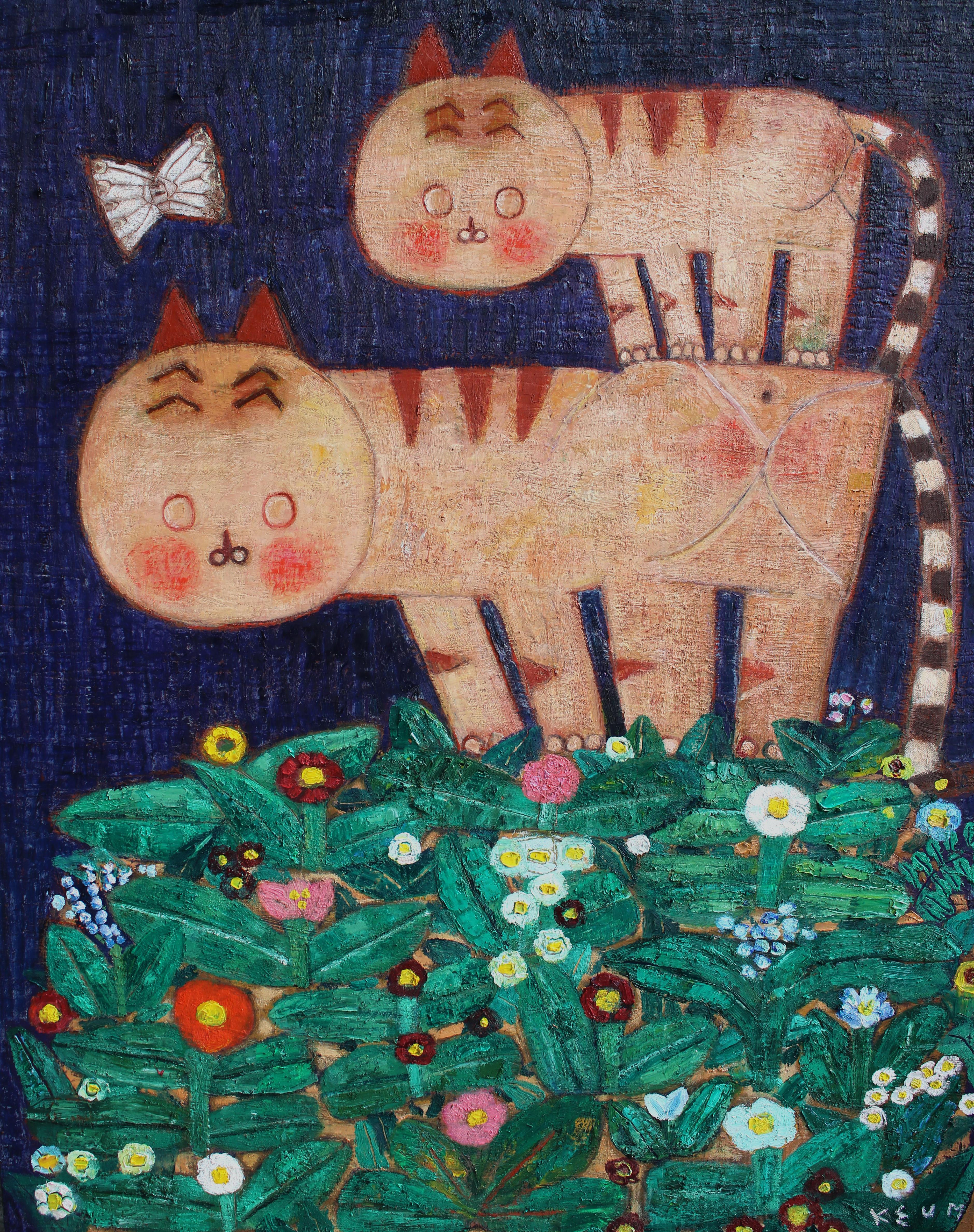 011, 금영보, 대길오오-꽃피는 언덕, 90.9 x 72