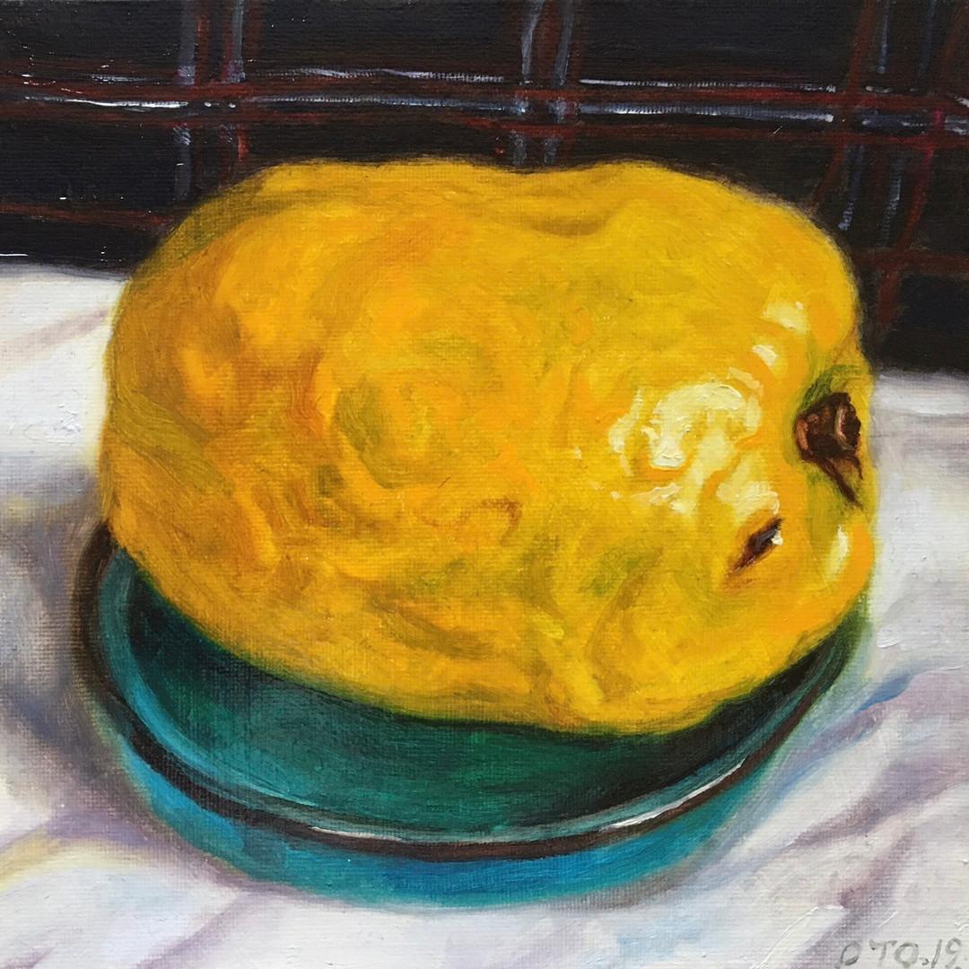 003, 모과1, 20 x 20 cm, oil on canvas, 202