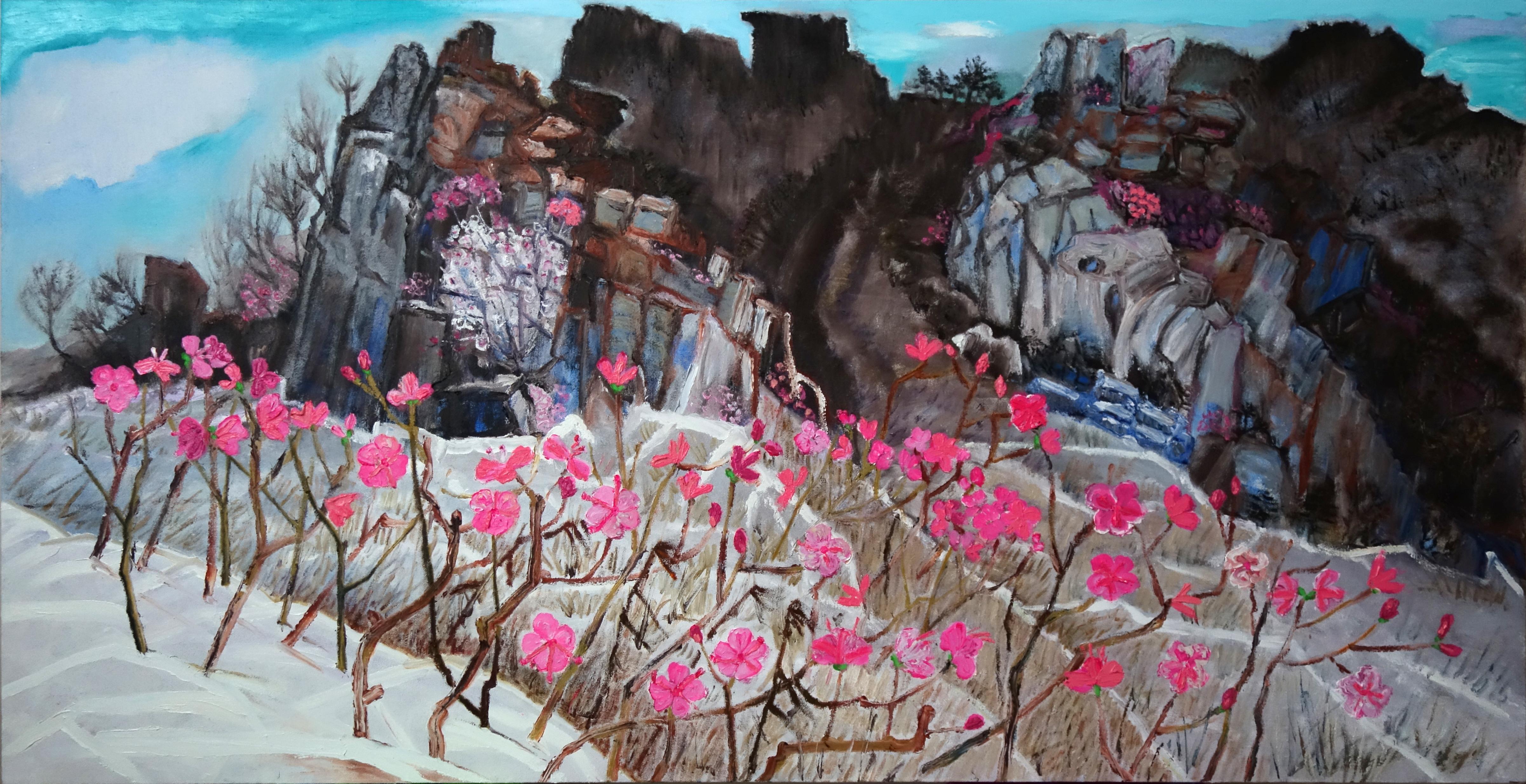 011 민해정수, 주작산진달래, 145.5 x 75