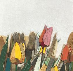이부강2, trace flowers 2, 25 x 25 cm, mixed
