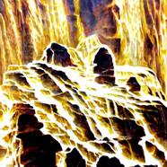 002, 자연-순환(노을품은폭포) 90x118cm canvas on ac