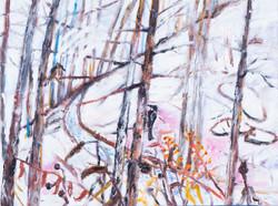 민해정수, 눈 내린 인제, 45.5 x 60