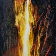 001, 자연-순환 (폭포) 40cmx60cm canvas on acry