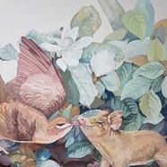 029, 박계숙, 나르시스의 정원-4, 65 x 90 cm, 캔버스에 아