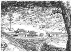 015, 안충기, 태백산 사고, 72 x 52 cm, 종이에 먹펜, 20