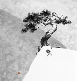 송뢰, 53x51cm, 화선지에 먹, 2014
