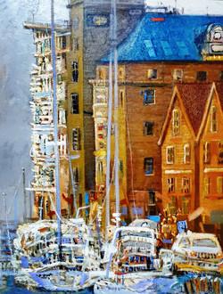 최수란, 스웨덴 예테보리, 73 x 92 cm, oil on canvas