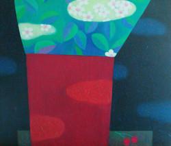 차명주, 앵두꽃, 53.0 x 45
