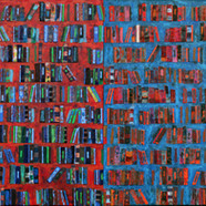 012 red and blue crying, 50 x 100 ㎝, 판넬