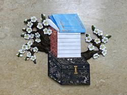 007, 이지숙, 부귀영화-예술가의 편지, 테라코타 위에 아크릴 채색,