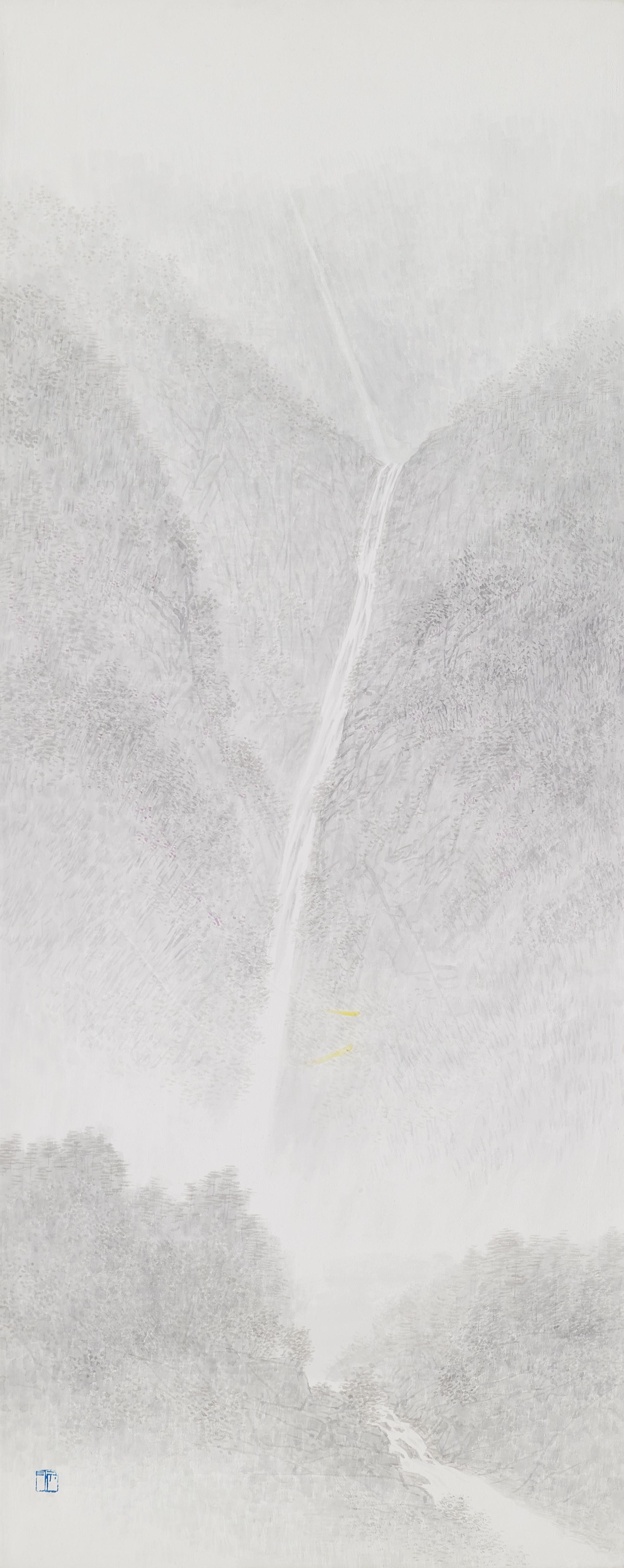 임태규 흐린 풍경-幾2 33X90 한지 위에 백토 수묵담채 2018(20