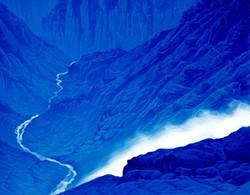 토왕성폭포2, 91 x 72 cm, acrylic on canvas, 2