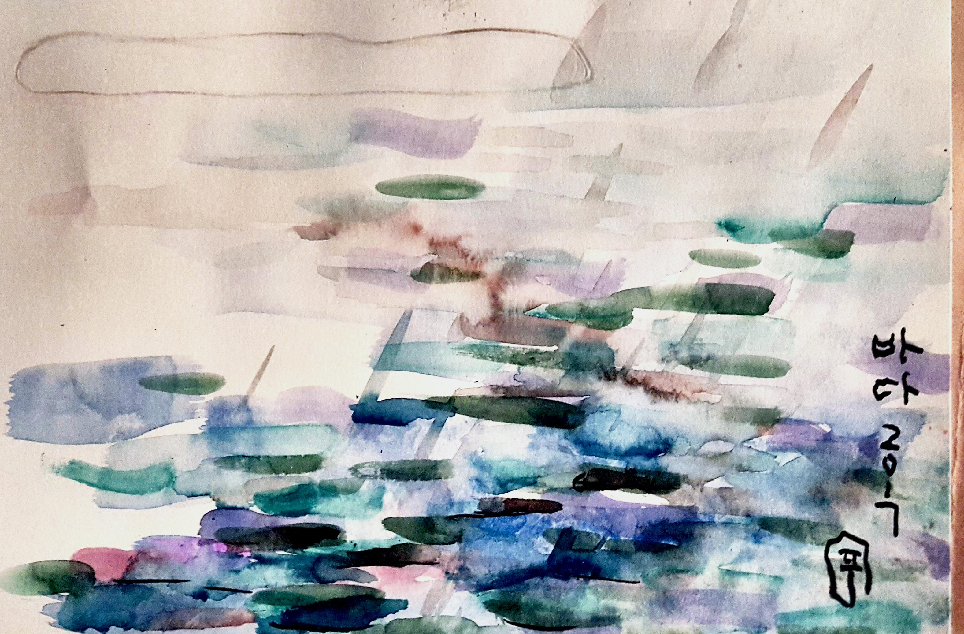 통영풍경, 33.4x24.2cm, 캔트지에 수채화물감, 2017 (2)