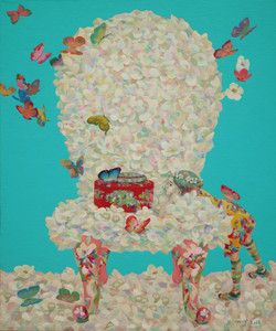 소녀의 그리운 마중 72.7x60.6cm Acrylic on canvas 2018
