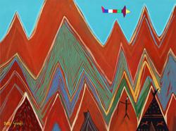 013, 최윤희, Mind map 21-7, 45.5 x 60.6 cm, 캔버스에 아크릴, 색동천, 2021, 180만원