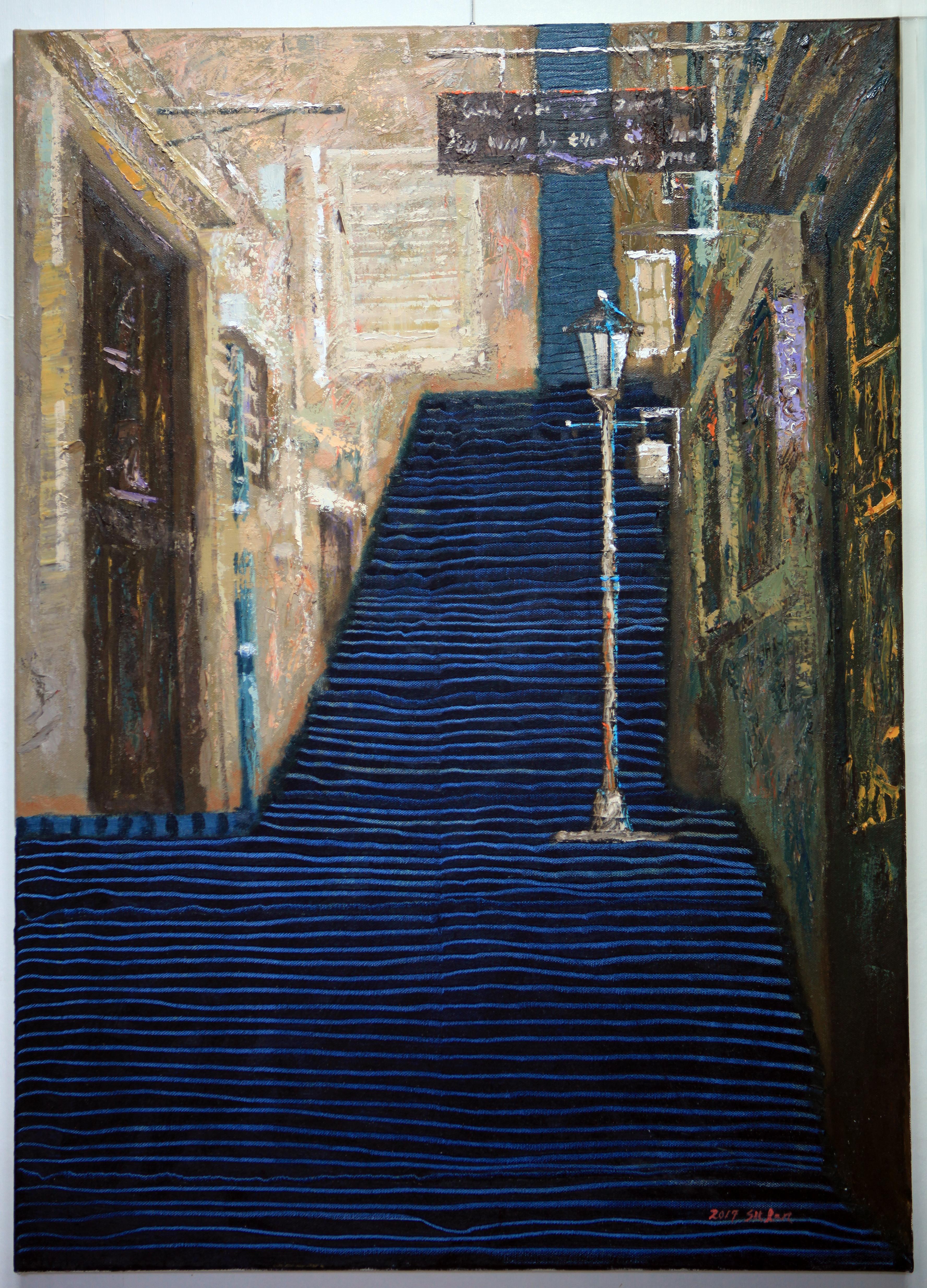 (최수란 3) _ 체코의 골목길,65x91cm-30호,,oil on canvas