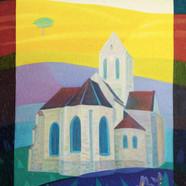 007, 차명주, 오베르교회, 60.6 x 72.7 cm, oil on