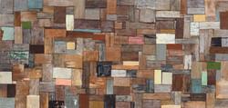 이부강 002 trace layers  31X65cm mixed media 2017