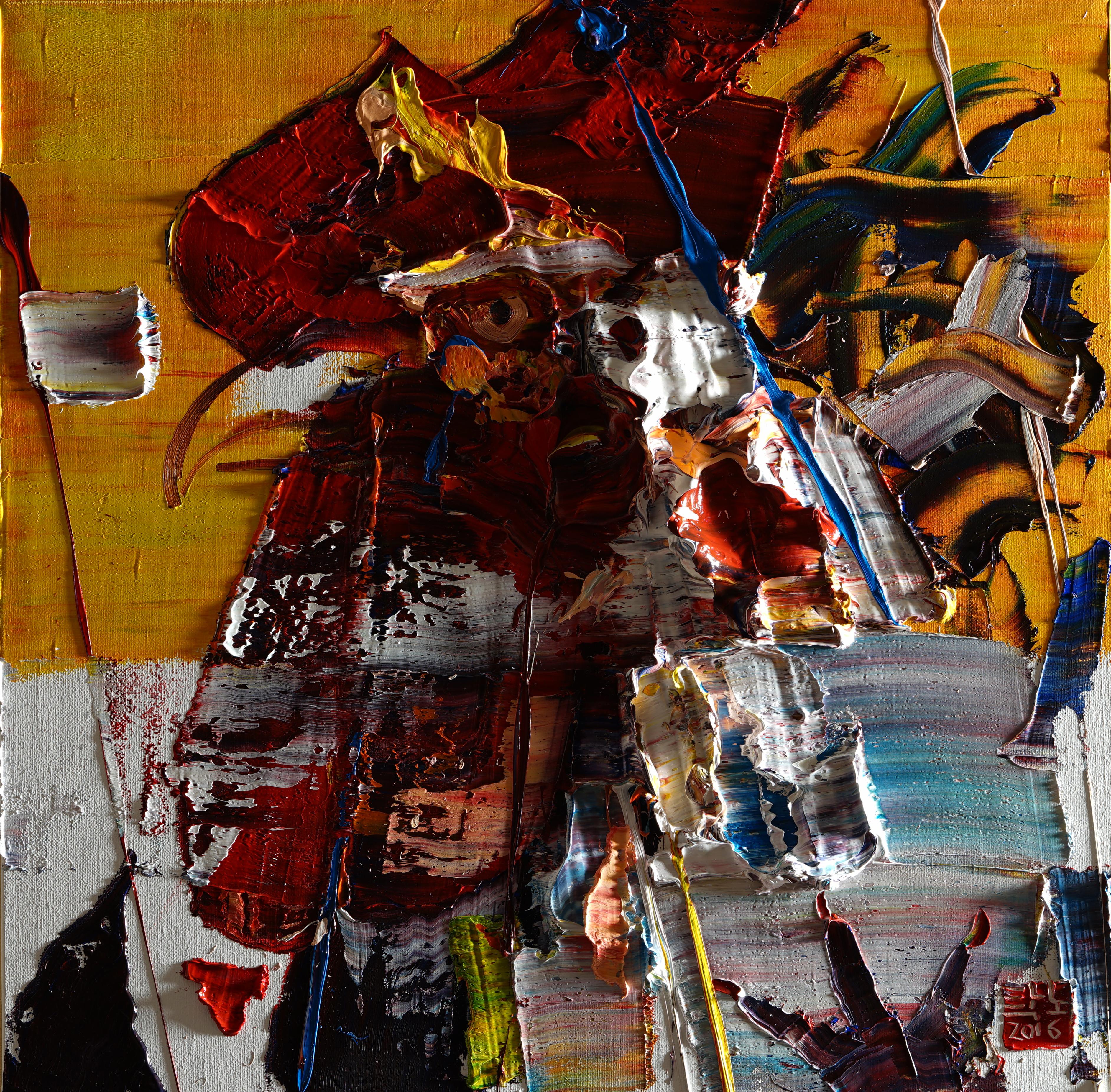 탁노, 60x60cm, Oil on canvas, 2016