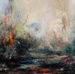 권영범1, 풍경(passage),  34 x 34 cm, oil on c