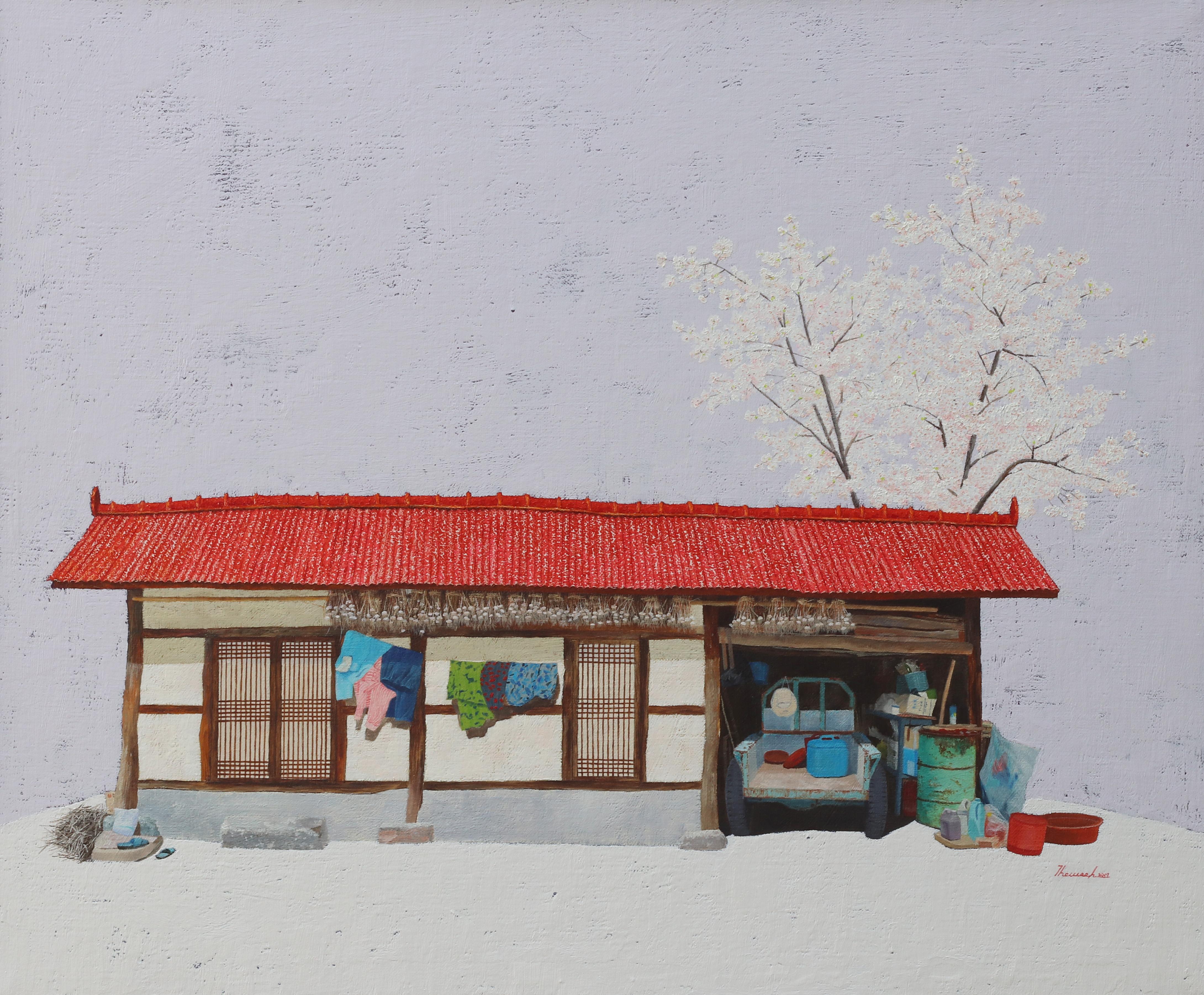 김용일, 병렬이네사랑방, 60.6x72.7cm, oil on canvas, 2017