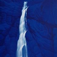 016, 바람폭포, 27 x45 cm, acrylic on canvas,