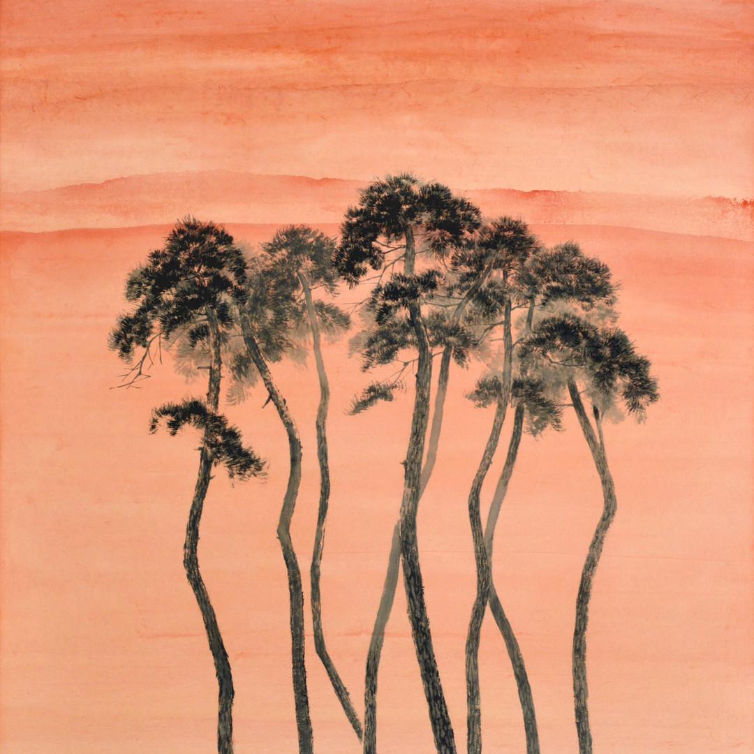 006, 송승호, Namaste, 53.2 x 81.0 cm, 화선지에
