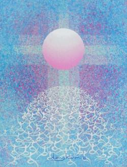 日出-信望愛, 31.8x40.9cm, Acrylic on canvas,2016