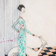 013. 최경자, Alpha Girl 1938, 38 x 45.5 cm,