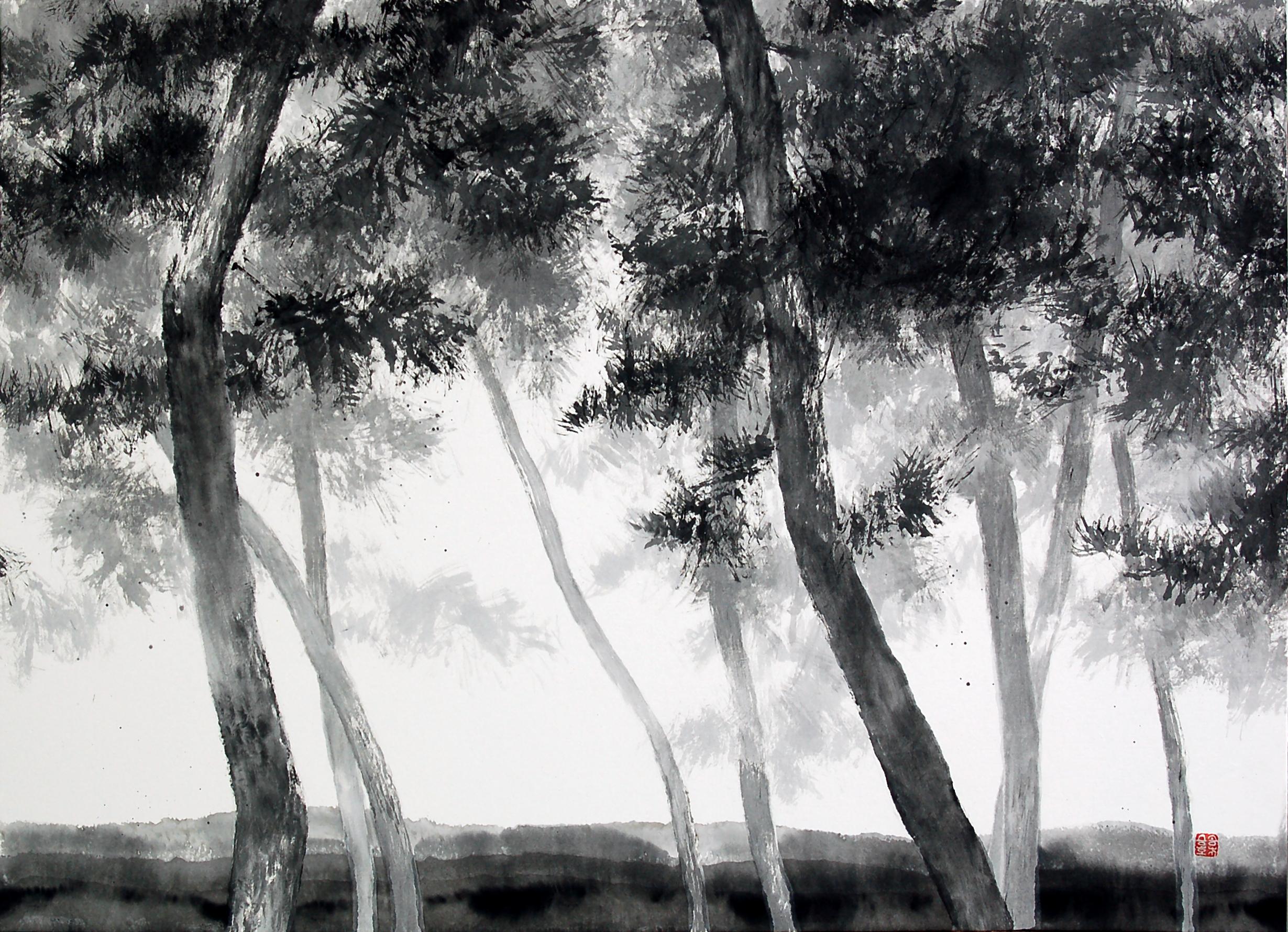 송승호, 송뢰, 73x53cm, 화선지에 수묵, 2014 (2)