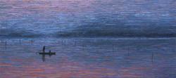 이미경, 우포이야기ㅡ흐르는 시간, 60x27cm, Oil on Canvas, 2016