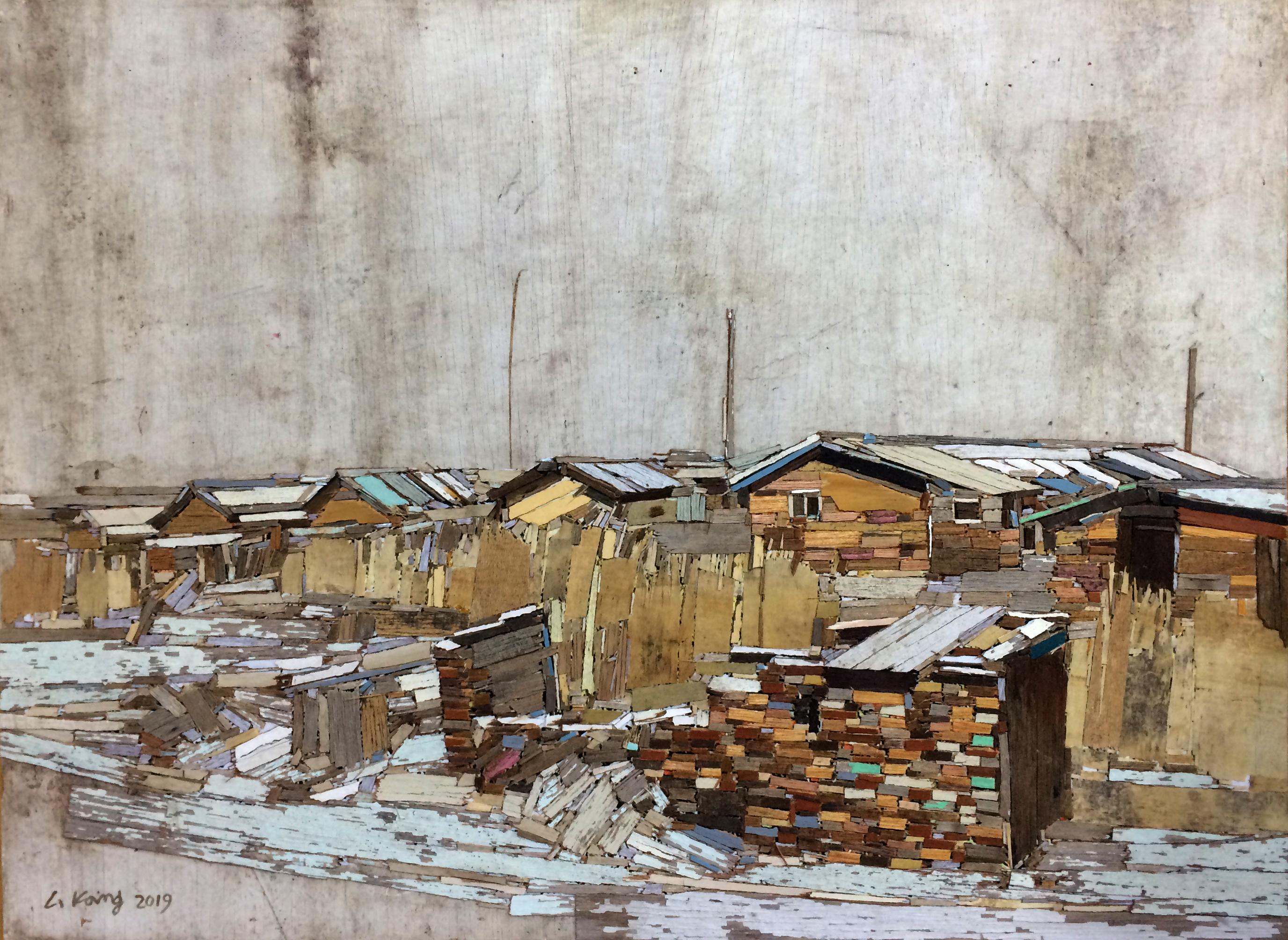 이부강1, trace 887(영신연와), 53 x 39 cm, Mixed