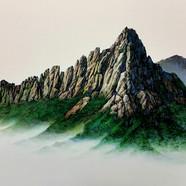006, 자연-순환(울산바위) 90x71cm canvas on acryl