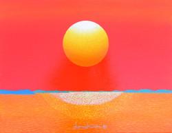 日出-信望愛, 40.9x31.8cm, Acrylic on canvas,2016
