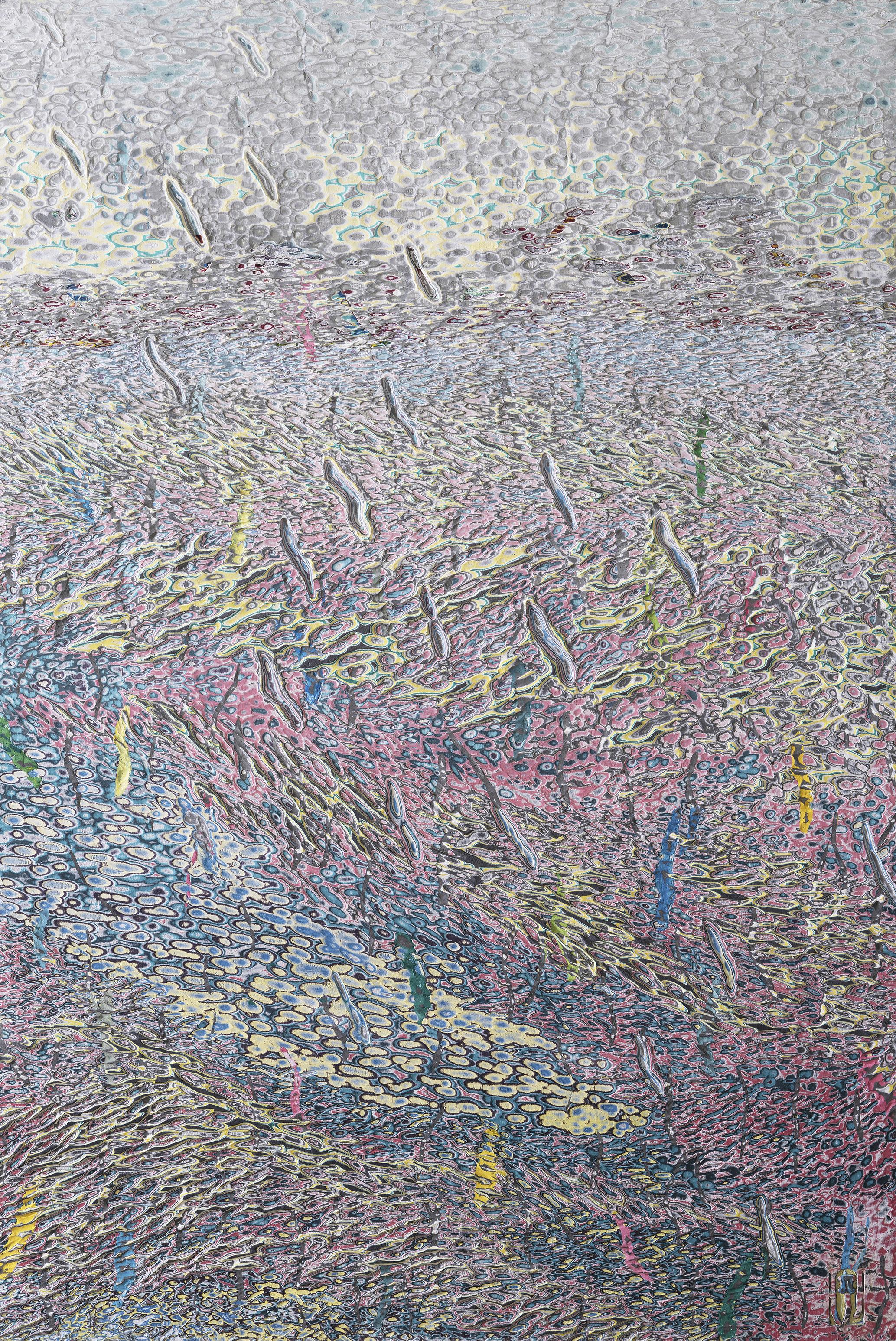007, 김재신, 바다, 146 x 97cm(80호), 나무판 위 색조각