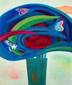 화병  72.7×60.6  oil on canvas