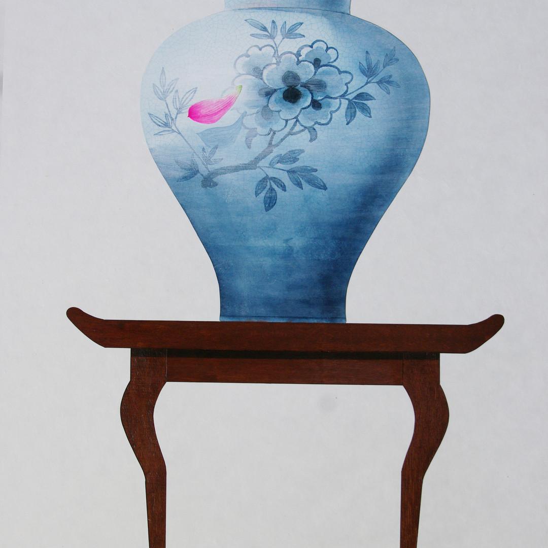 010, 비움과 채움(복을담다), 72.7 x 91.0 cm, 한지에 혼