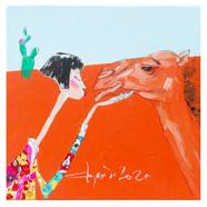 017, alpha girl 2046, 20 x 20 cm, 캔버스 위에