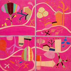 최윤희1, Mind map 19-26, 35 x 35 cm, Mixed