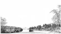 032, 안충기, 능내리, 60 x 34 cm, 종이에 먹펜, 2011,