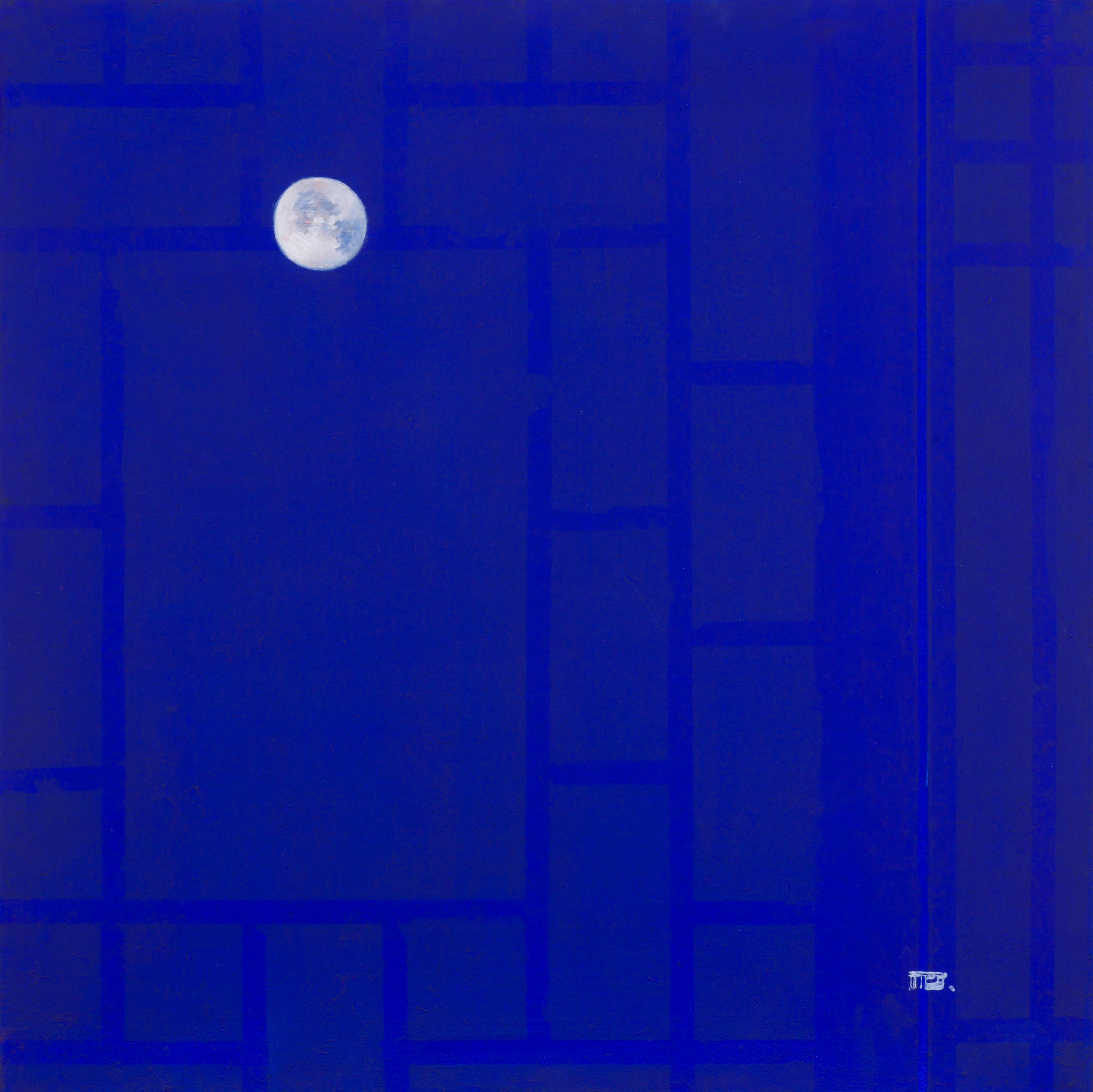 방복희, 門, 53 x 53 cm, 장지에 먹 분채 유채, 2020, 1