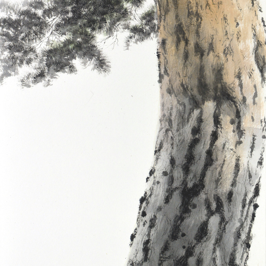 010, 송승호, 겨울애상Ⅱ, 35 x 53 cm, 화선지에 수묵담채,