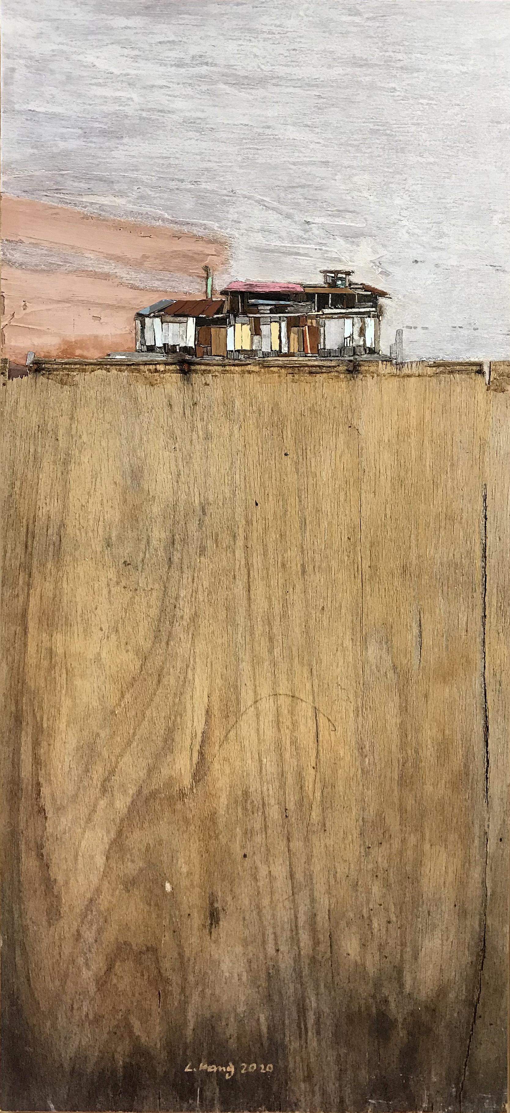 이부강4, trace skyline 28, 27 x 60 cm, mixe