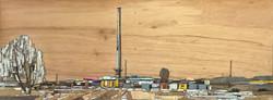 012, 이부강, trace 887, 30 x 80 cm, mixed m
