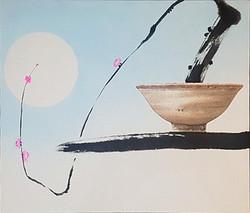 오관진1, 비움과 채움(복을담다), 53 x 45 cm (10F), 한지