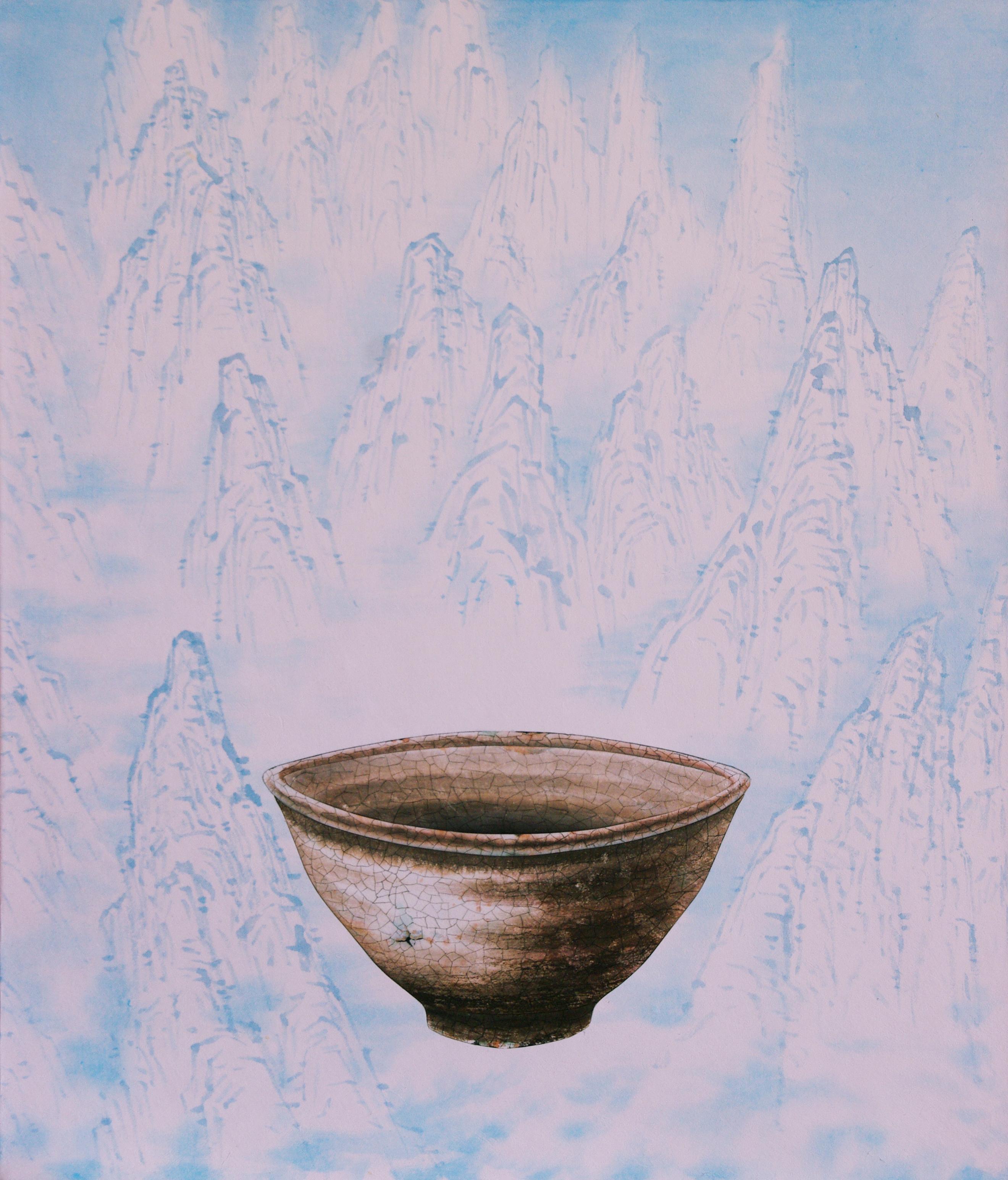 019, 비움과 채움(통일을담다), 46 x 53 cm, 한지에 혼합재료