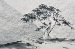 천년의 노래, 110x165cm, 수묵, 2018